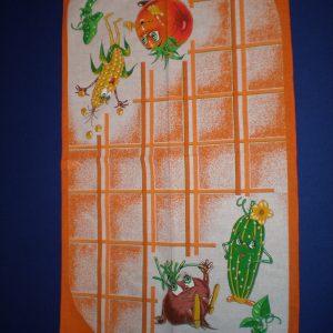 Utierka Veselá zelenina oranž