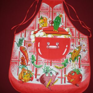 Zástera Veselá zelenina červená