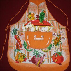 Zástera vesela zelenina oranž